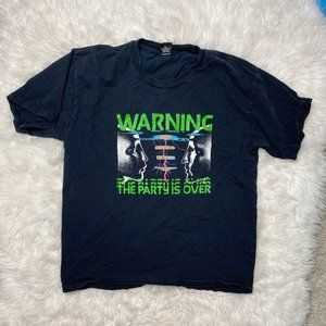 """Obey """"Warning the Party's Over"""" Graphic Tee"""